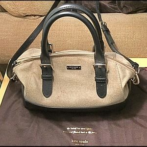 Kate Spade Beige and Black Slouch Tote